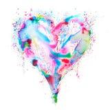 Corazón colorido 01 del amor Imagen de archivo libre de regalías