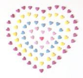 Corazón colorido del caramelo fotografía de archivo libre de regalías
