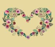 Corazón colorido del día de tarjetas del día de San Valentín Fotos de archivo libres de regalías