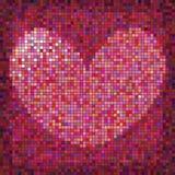 Corazón colorido del día de tarjetas del día de San Valentín Imagenes de archivo