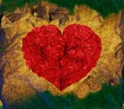 Corazón colorido del grunge stock de ilustración