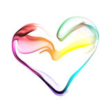 Corazón colorido hecho de humo Fotos de archivo libres de regalías