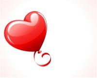 Corazón como balón de aire con la cinta Fotografía de archivo libre de regalías