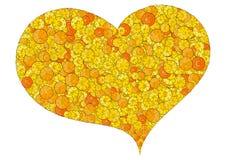 Corazón compuesto de monedas Fotografía de archivo