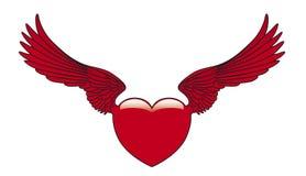 Corazón con alas Imagen de archivo