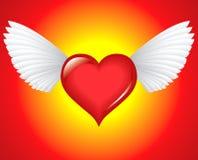 Corazón con alas Fotos de archivo libres de regalías