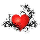Corazón con el estampado de flores Foto de archivo