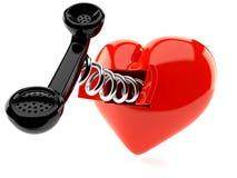 Corazón con el microteléfono libre illustration