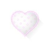 Corazón con el modelo Foto de archivo libre de regalías