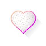 Corazón con el modelo Fotos de archivo libres de regalías