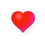 Corazón con el modelo Imagen de archivo libre de regalías