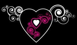 Corazón con el modelo decorativo Fotos de archivo