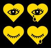 Corazón con el ojo ilustración del vector