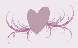 Corazón con el ornamento Foto de archivo