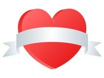 Corazón con la bandera Fotografía de archivo libre de regalías