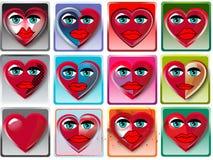 Corazón con la cara Imagenes de archivo