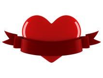 Corazón con la cinta Ilustración del Vector