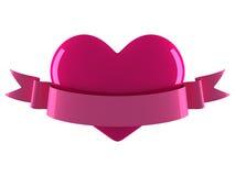 Corazón con la cinta Fotos de archivo libres de regalías