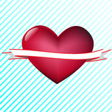 Corazón con la cinta Imágenes de archivo libres de regalías