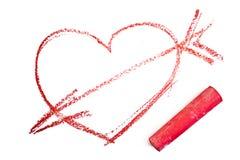 Corazón con la flecha Imagen de archivo libre de regalías