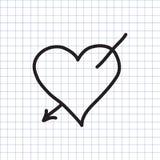 Corazón con la flecha de amor libre illustration