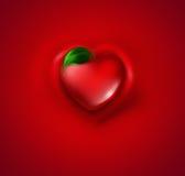Corazón con la hoja Foto de archivo