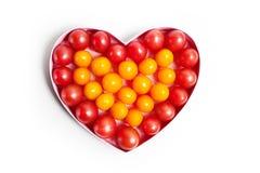 Corazón con la producción de la fruta Imagen de archivo