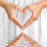 Corazón con la reflexión Fotos de archivo libres de regalías