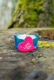 Corazón con la vela II Fotos de archivo libres de regalías