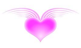 Corazón con las alas Imágenes de archivo libres de regalías