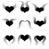 Corazón con las alas Fotografía de archivo libre de regalías