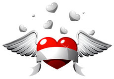 Corazón con las alas Libre Illustration