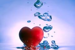 Corazón con las burbujas Foto de archivo libre de regalías