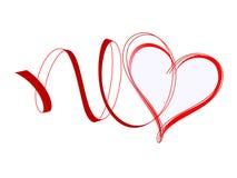Corazón con las cintas Fotos de archivo libres de regalías