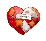 Corazón con las correcciones Foto de archivo