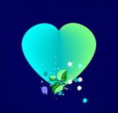 Corazón con las flores, ilustración stock de ilustración