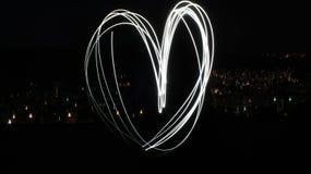 Corazón con las luces fotos de archivo