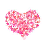 Corazón con las mariposas Fotos de archivo libres de regalías