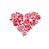 Corazón con las rosas Fotos de archivo