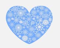 Corazón con los copos de nieve libre illustration
