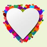 Corazón con los corazones como fondo Fotos de archivo libres de regalías