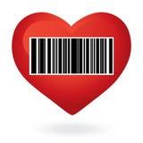 Corazón con precio Imagen de archivo