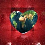 Corazón con textura de la tierra libre illustration