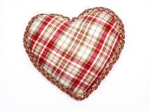 Corazón con textura del mantel Fotos de archivo libres de regalías