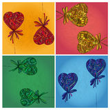 Corazón con un arco Foto de archivo libre de regalías