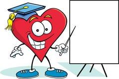 Corazón con una muestra Imagen de archivo