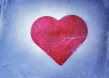 Corazón congelado imagen de archivo libre de regalías