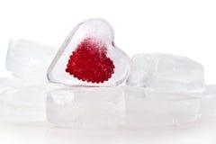 Corazón congelado Fotos de archivo