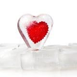 Corazón congelado Imágenes de archivo libres de regalías