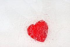 Corazón congelado imagenes de archivo